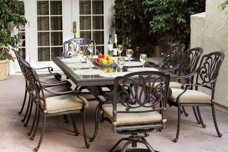 opciones muebles jardin originales sillas negras ideas