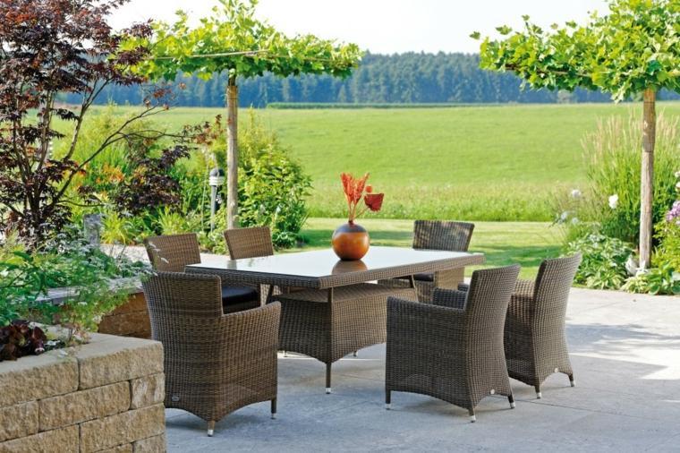 opciones muebles jardin originales sillones ratan vistas ideas