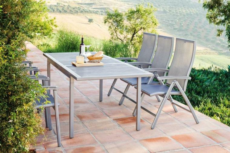 opciones muebles jardin originales suelo losas ideas