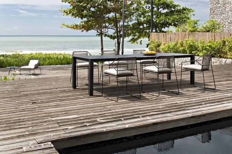 opciones muebles jardin originales suelo madera diseno simple ideas