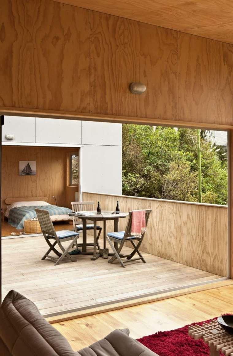 opciones muebles originales terraza divide casa ideas