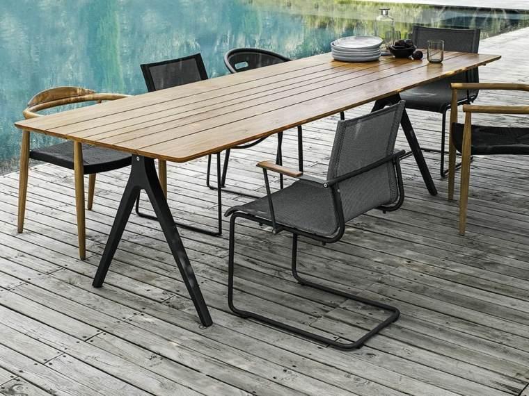 opciones muebles terraza diseno contemporaneo ideas