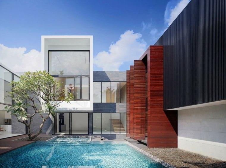 opciones originales diseno moderno piscina arbol ideas