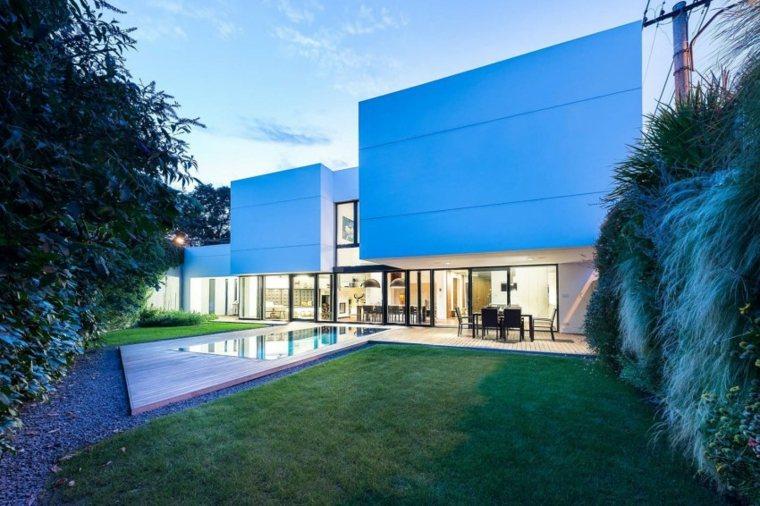 opciones originales diseno piscina suelo madera jardin ideas