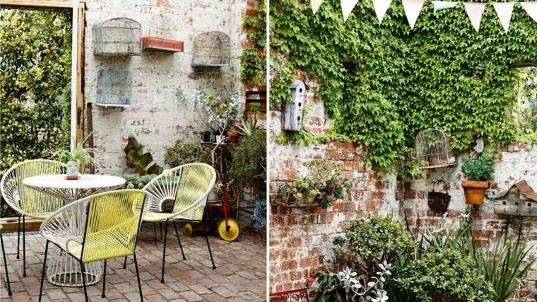 opciones originales diseno plantas pared jardin interno ideas