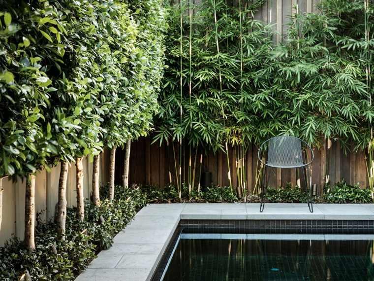 opciones originales diseno valla madera piscina ideas