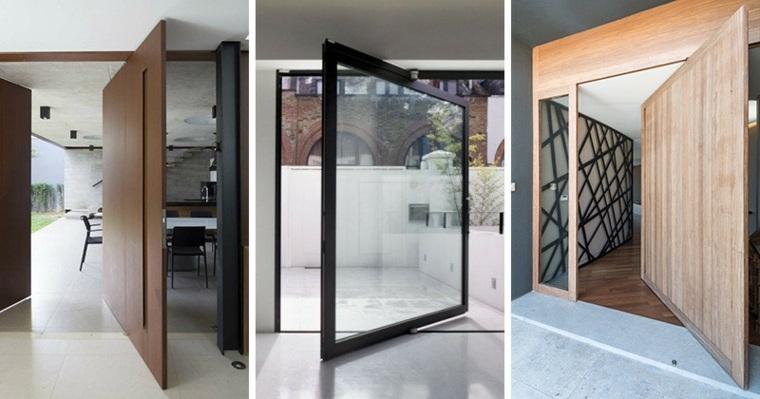 Opciones de puertas pivotantes grandes - Puertas de entrada de diseno ...