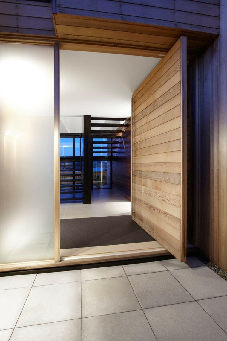 opciones puertas pivotantes laminas madera ideas