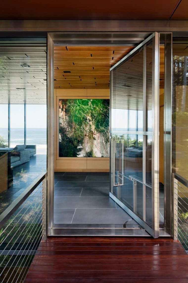 puertas pivotantes salida terraza ideas