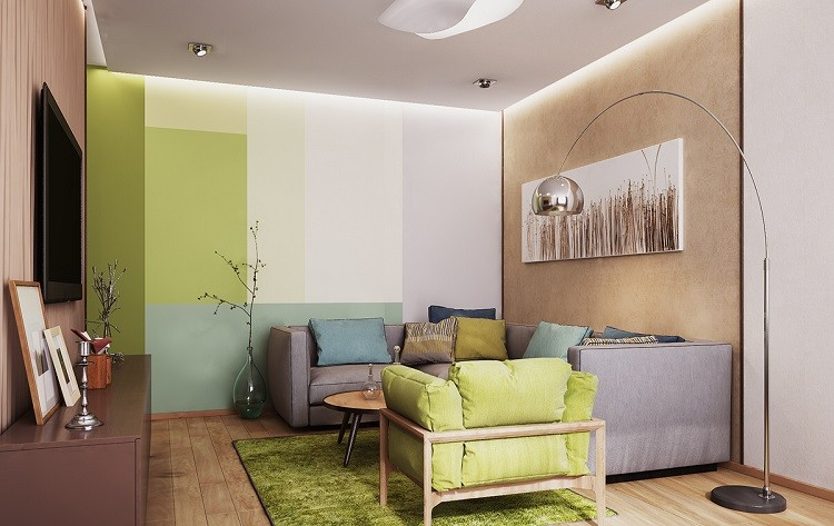 opciones salones pequenos coloridos ideas