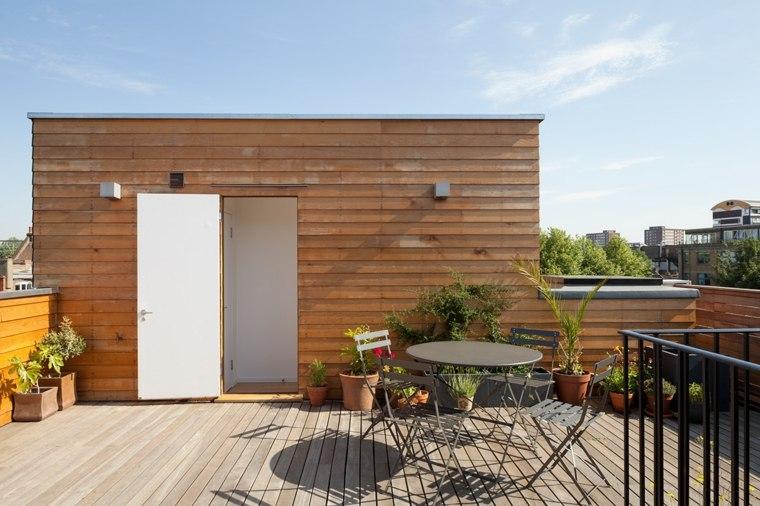 opciones terraza muebles acero suelo madera ideas