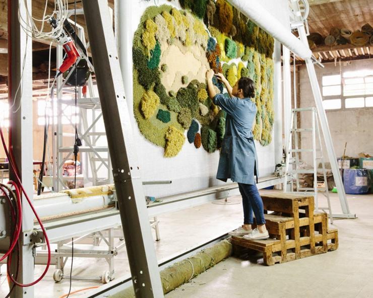 decoracion paredes plantas verdes