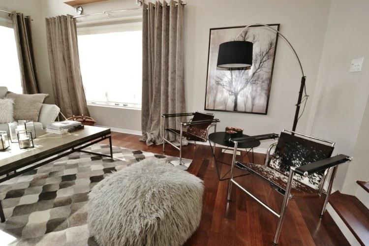 original alfombra tonos grises