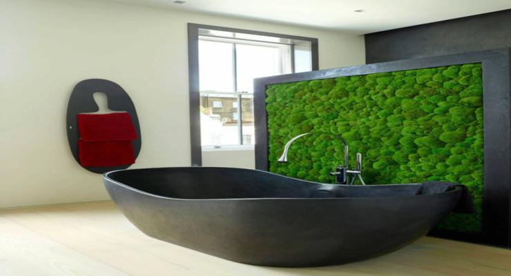 jardín vertical cuarto baño