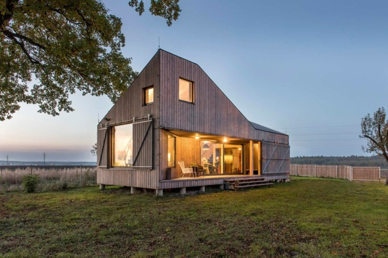 original diseño casa madera porche