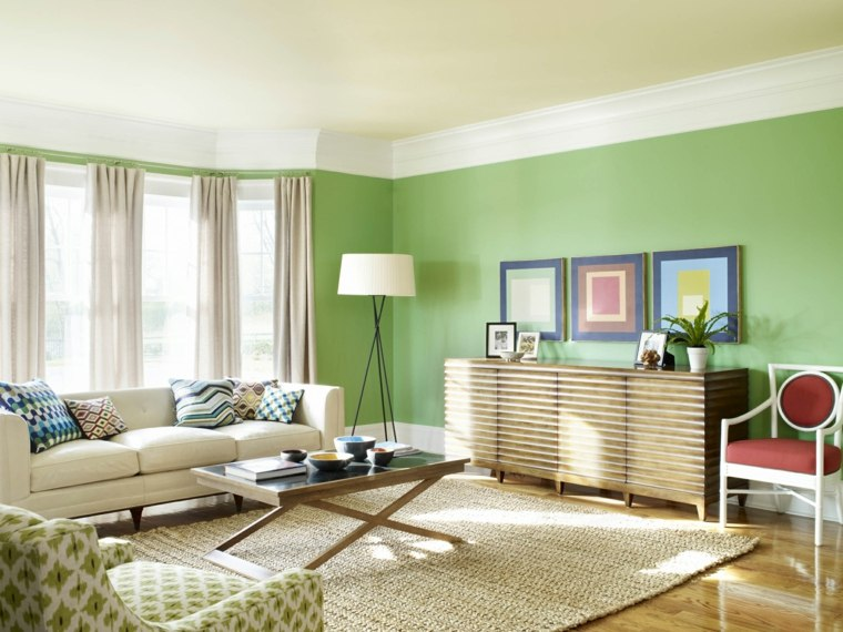Color verde para la decoraci n de interiores 25 dise os - Decoracion de suelos interiores ...