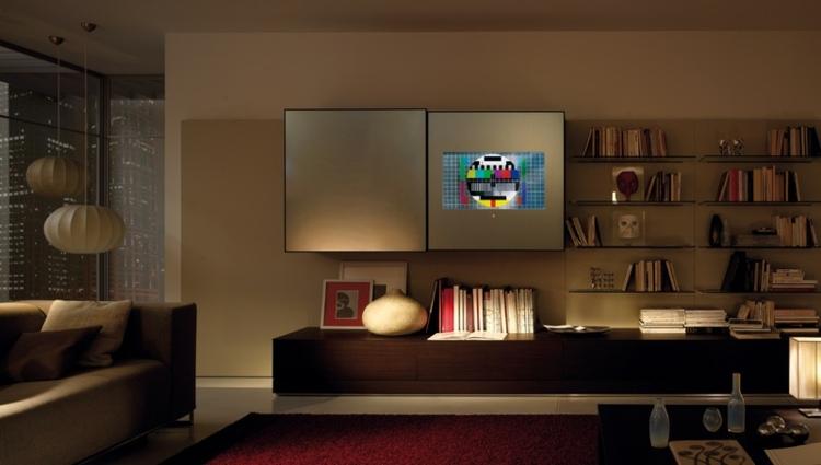 original diseño biblioteca mueble tv
