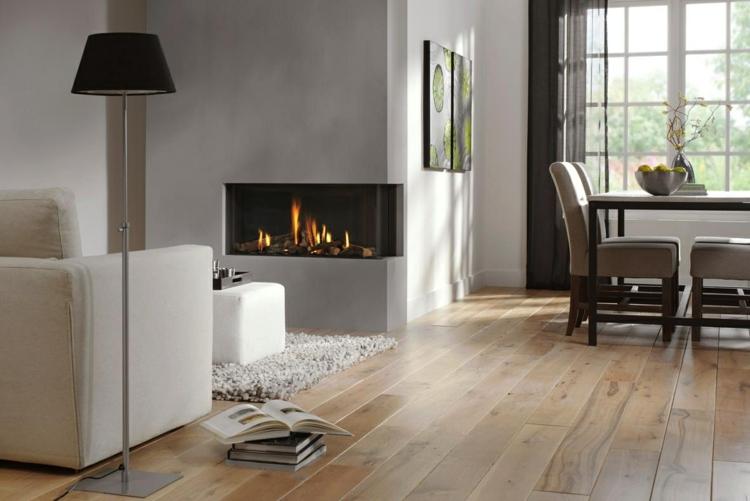 original diseño chimenea gris salón