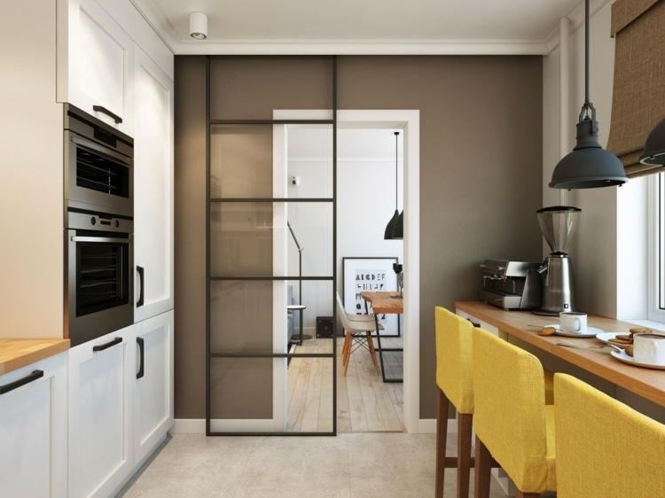 cocina diseño moderno pequeña