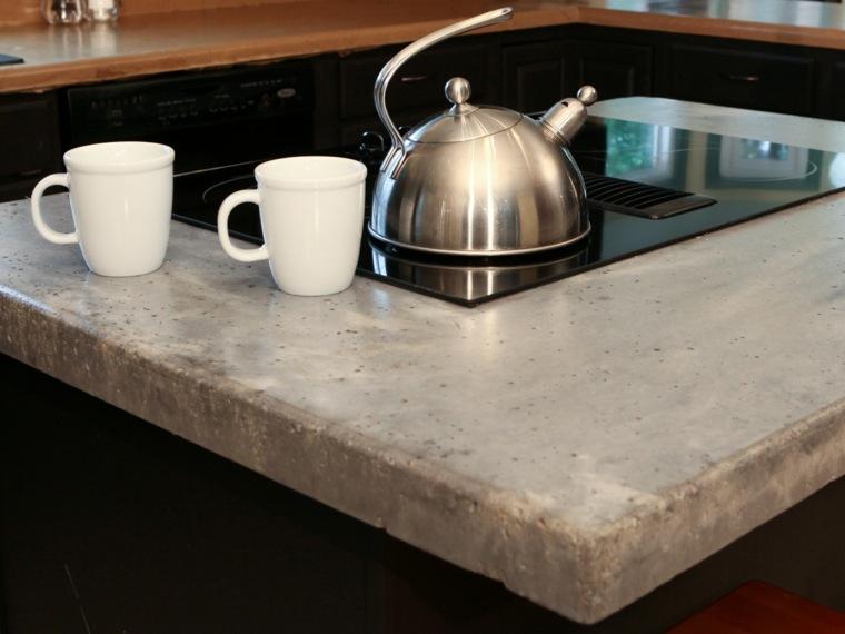 original diseño encimera cemento gris