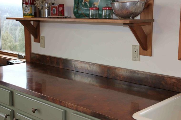 original diseño encimera colcina cobre
