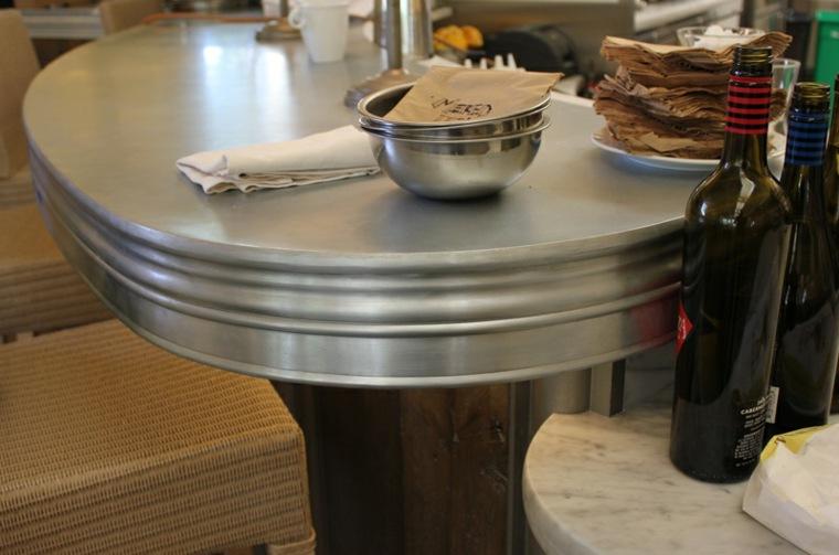original diseño encimera cocina zinc