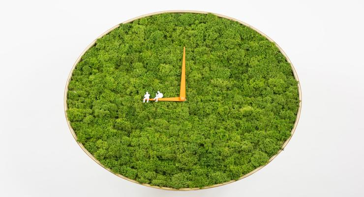 reloj esfera verde natural