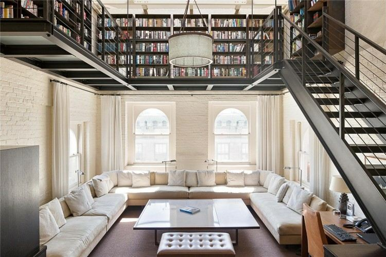 original diseño salón biblioteca duplex