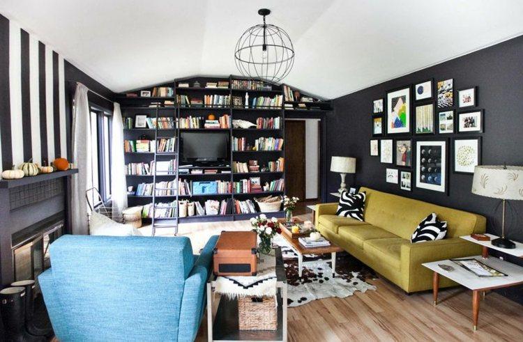 original diseño sala estar librería