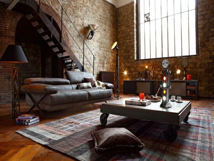 original diseño sala estar industrial