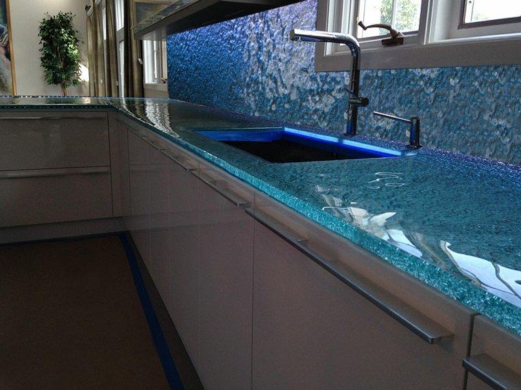 original diseño salpicadero encimera vidrio