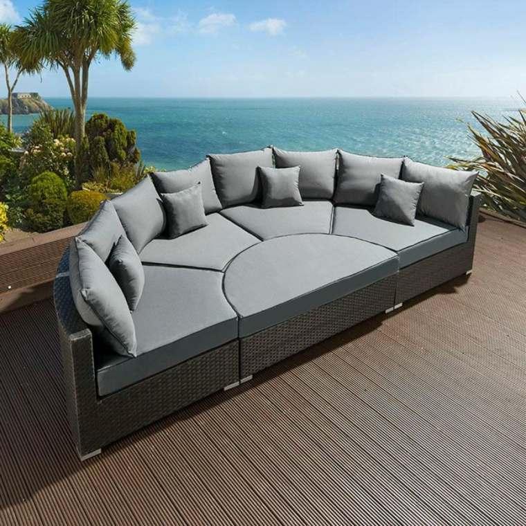 original diseño semicircular sofa