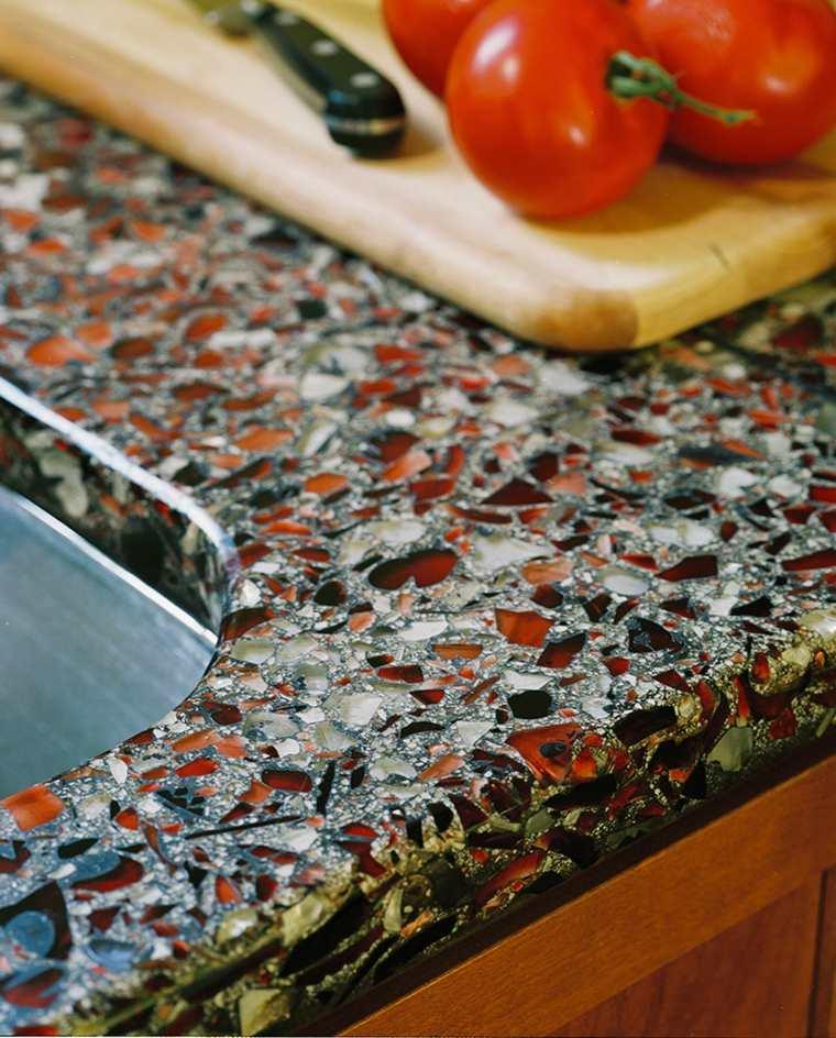 original diseño encimera reciclada cocina