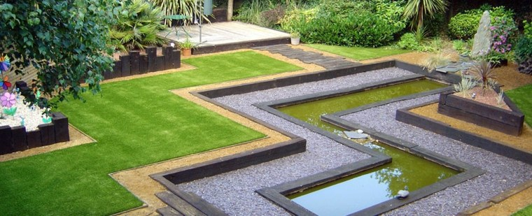 original diseño bonito jardín