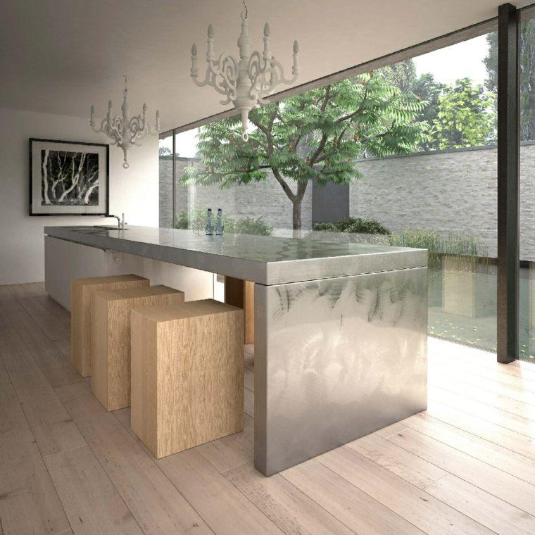 Encimeras de cocina de materiales innovadores   50 modelos