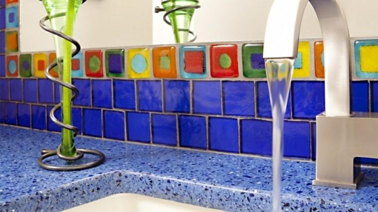 original diseño superficie azul
