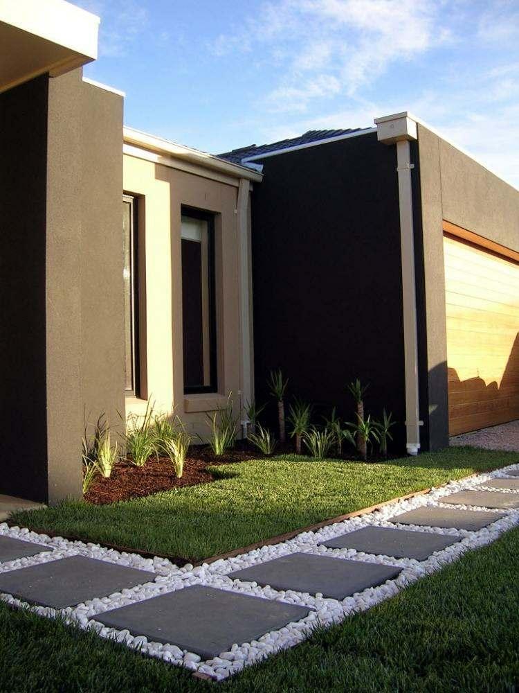 Minimalismo en el jard n 100 dise os paisaj sticos - Ideas para fachadas ...