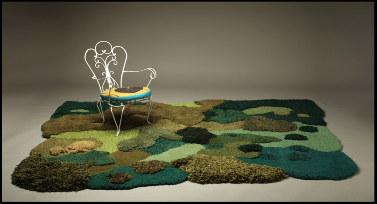 pastizal musgos modelo jardín