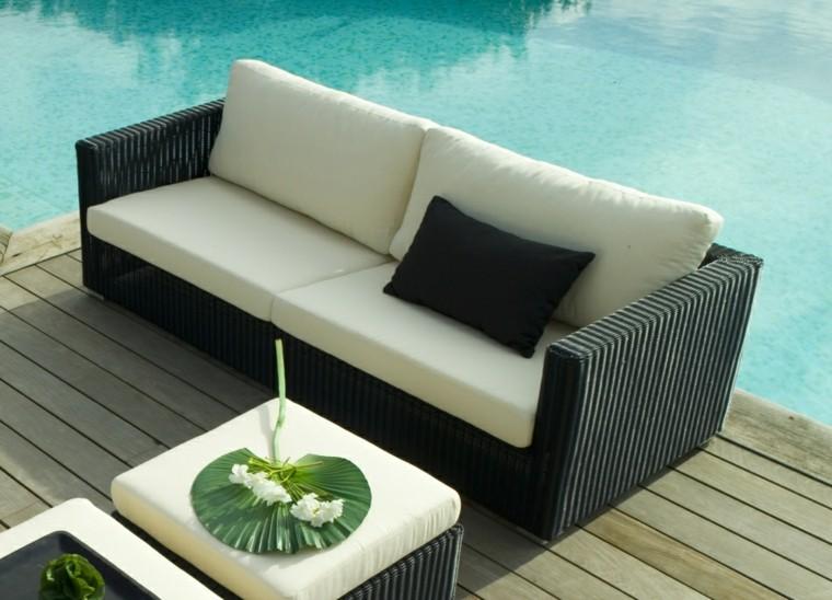 original sofá mimbre negro