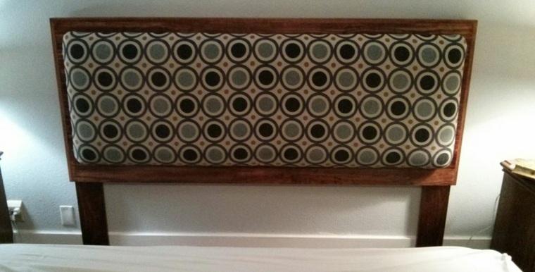 Como tapizar un cabecero cincuenta ideas originales - Cabeceros tapizados originales ...