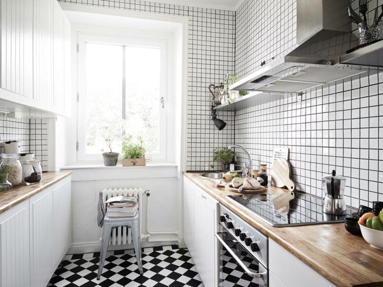 Dise os cocinas peque as modernas cincuenta modelos for Azulejos cocina 2016