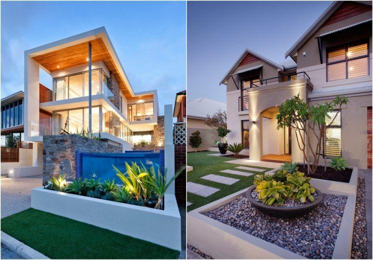 originales casas jardines minimalistas modernos