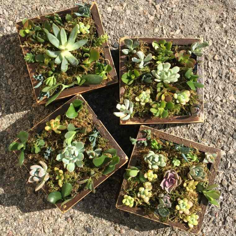 Jardineras verticales ideas sencillas para colgar plantas - Marcos para plantas ...