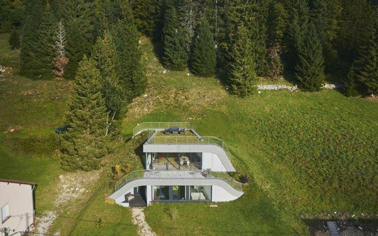 originales diseños casas terrazas Francia