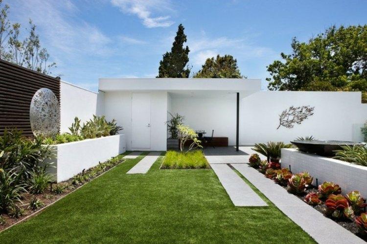 minimalismo en el jardín - 100 diseños paisajísticos modernos -