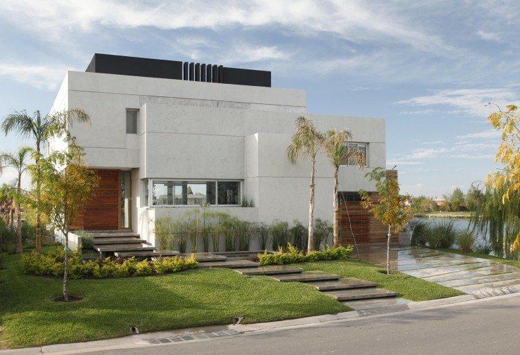 Minimalismo en el jard n 100 dise os paisaj sticos modernos - Vorgartengestaltung modern ...
