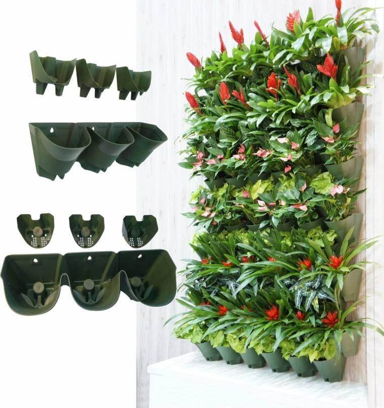 Jardineras verticales ideas sencillas para colgar plantas - Macetas para colgar ...