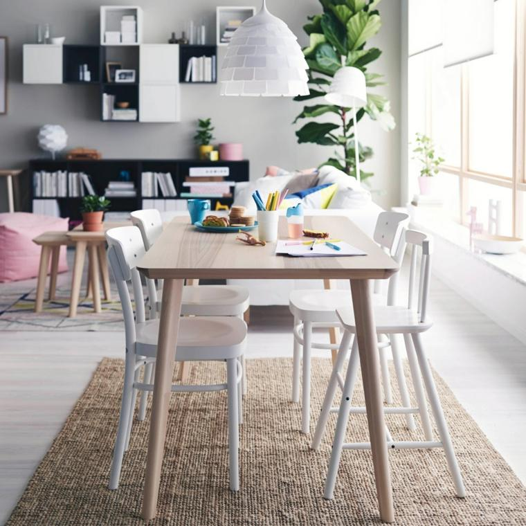originales sillas comedor blancas mesa