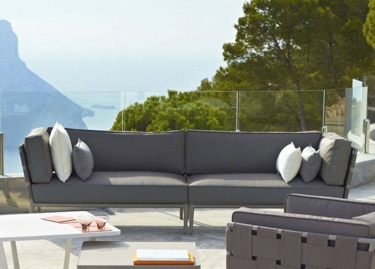 originales sofas jardin color gris