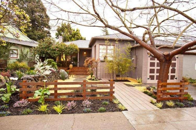 originales vallas madera modwerna jardin
